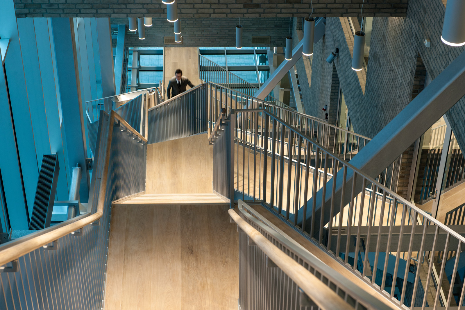 Dark, Arkitekter, Dark Arkitekter, Architects, Dark Architects, MVRDV, Bjørvika, Barcode, Oslo, Norge, Norway, Urban design, Office, Kontor, Pikselert, Pixelated, interior, interiør, trapp, stair, staircase