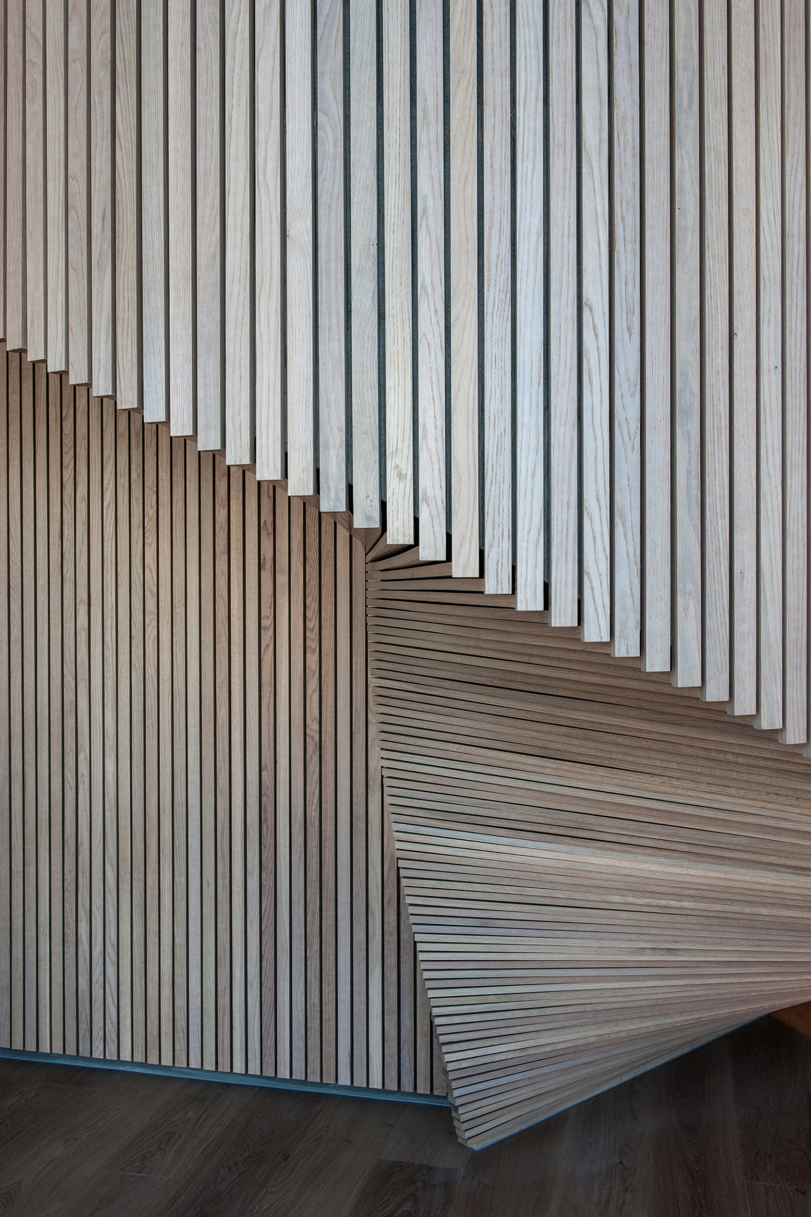 Dark, Arkitekter, Dark Arkitekter, Architects, Dark Architects, MVRDV, Bjørvika, Barcode, Oslo, Norge, Norway, Urban design, Office, Kontor, Pikselert, Pixelated, interior, interiør, wood, detail, detalj, treverk, tre